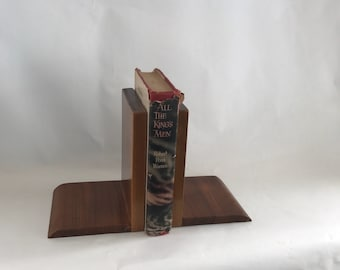 Walnut book ends handmade shop project mid century modern MCM solid wood