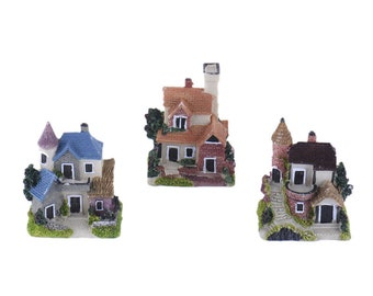 1 PC Decoration House Cottage Tiny Miniature Garden Plants Terrarium Doll House Ornament Fairy Decoration CH040418