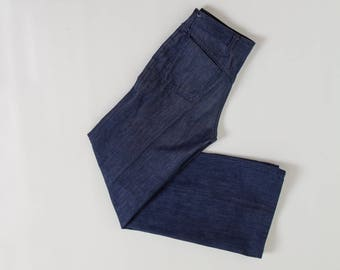 vintage 70s bell bottom denim jeans