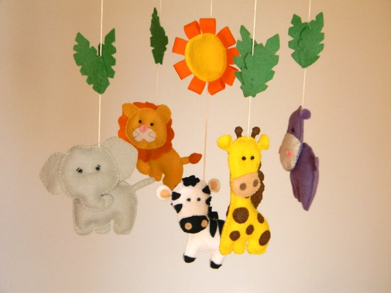 baby crib mobile safari baby mobile nursery jungle. Black Bedroom Furniture Sets. Home Design Ideas