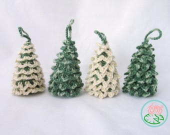 Amigurumi Christmas Trees Ornaments (3 designs) - PDF pattern (Digital Download)
