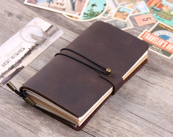 Personalized Leather Journal Notebook - Journal sketchbook - Refillable Leather Journal - Custom Journal