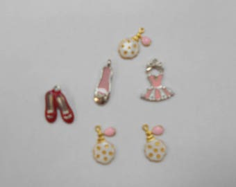 5 different charms size 2x1cm