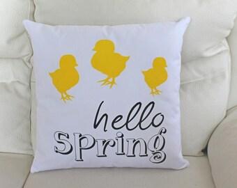 Hello Spring Pillow, Easter Pillow, Sofa Pillow