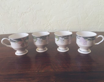 Sango Evening Song Footed Cups (Set of 4)