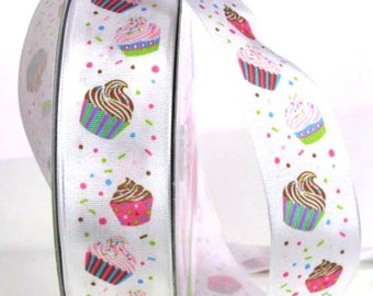 "1 1/2"" Cupcake Ribbon - Cupcakes - Wire Edged Ribbon"