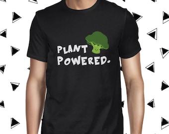 Broccoli Shirt for Men - Plant Based Shirt - Vegan Plant Powered T-shirt - Men's Pun Tee - Funny Broccoli Tee Shirt - Vegan Shirt for Men