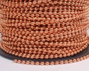 2 Feet 4.5mm Ball Chain - 100% Copper