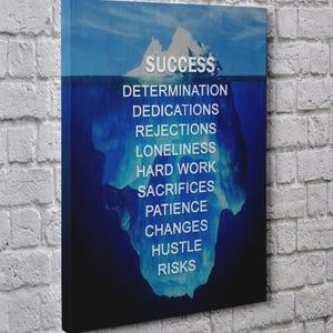 motivational artwork for office. Success Iceberg Entrepreneur Modern Art Motivational Artwork Wall Art, Office Home Decor Gallery Style Canvas For