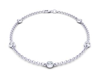 Diamond Station Bracelet With 5 Stations 0.25 ct. tw.