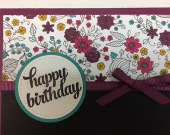 Handmade Stampin up Birthday flowers