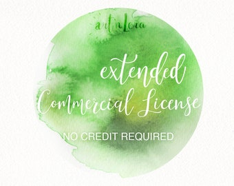 Extended Commercial License  No Credit Required