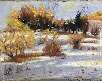 Original Pastel Painting winter scene - It snowed yesterday!
