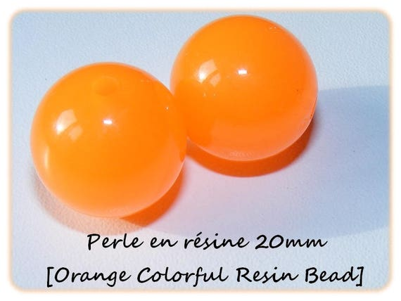 Pearl resin bright 20mm x 1 [Orange Colorful]