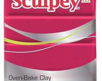 Sculpey III deep red Pearl paste 57g