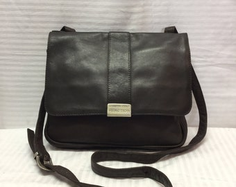 Kenneth Cole,brown Leather purse,Bag, Brown, Cross Body, Leather Bag, Purse, Shoulder Bag