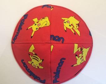 Pokemon kippah yarmulke handmade in Israel
