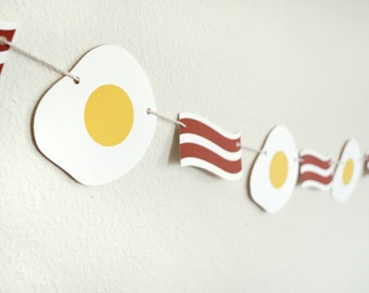 Bacon and Egg Breakfast Paper Garland 5 ft.