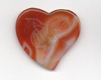 Natural stone heart shaped Guitar Pick