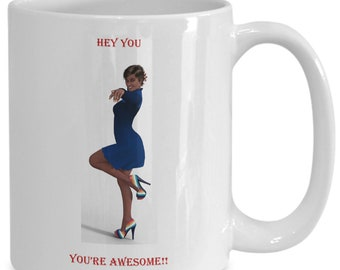 Hey you coffee mug