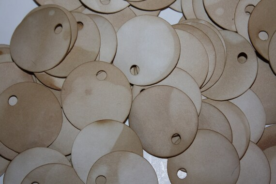 Price Tag set of 100 Round Circle 1 1/2 Tea Stained Product Tags