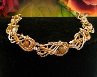 Wrapped Unikite Bracelet