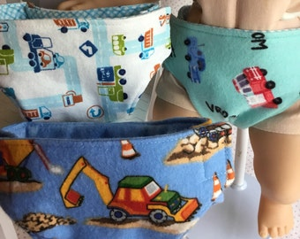 BITTY BABY BOY Diapers For 15 Inch Baby Dolls