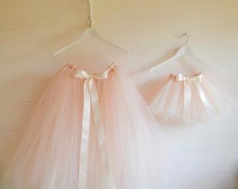Tutu, Girls tutu, flower girl tutu, ivory tutu, pink tutu, champagne tutu, bridesmaid tutu skirt, tulle skirt, wedding tutu, tutu dress