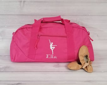 Personalized BALLET LARGE Duffel Bag. dance team, dance bag, ballet bag, dance gift, sports bag, personalized duffel bag, duffel bag, ballet