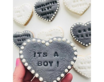 Love heart pearl biscuits