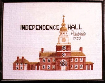 Indpendence Hall in Phila. CHART for counted cross stitch