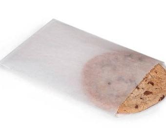 White Glassine Bags (50) * 4 3/4 x 6 3/4 * cookies * sandwich bag * paper bag * flat bag