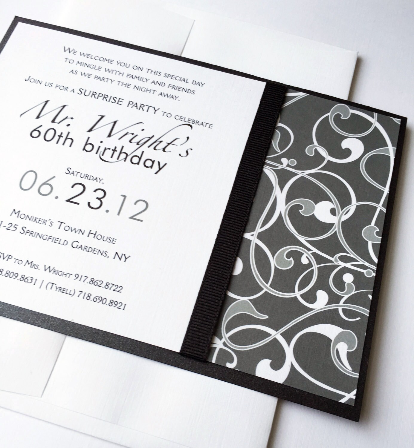 Male Birthday party Invitations Modern Masculine Wedding
