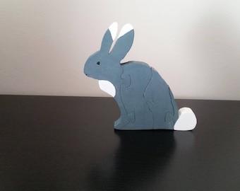Rabbit wood puzzle
