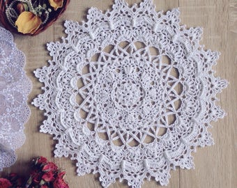 Doily Crochet doily Crochet Doily white Crochet round doily lace doily gift