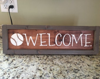 Farmhouse Baseball Sign