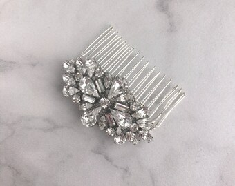 Wedding headpiece - bridal hair comb - vintage wedding comb - wedding hair comb - bridal headpiece - crystal hair comb - Anouk comb