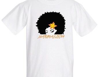 LIL' NATURALISTA 100% Pre-Shrunk Cotton T-Shirt in white