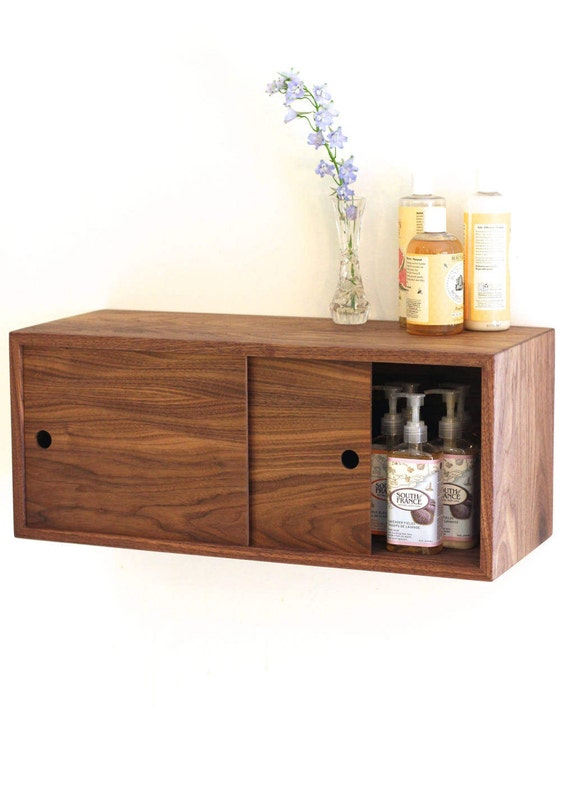 Floating Bathroom Storage Cabinet With Sliding Doors Vanity