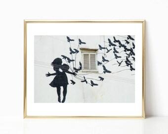 Graffiti Art Decor // Lisbon // Black and White Prints // Travel Photography // Portugal Prints // Graffiti Photography // Lisbon Prints