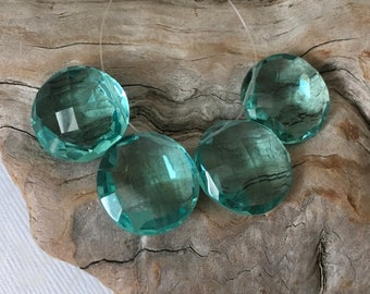INVENTORY REDUCTION! - 4 Stunning Large Faceted Paraiba Blue Hydro Quartz