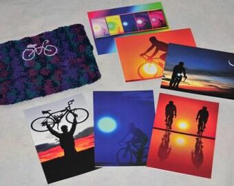 Cycling Greeting Card Set