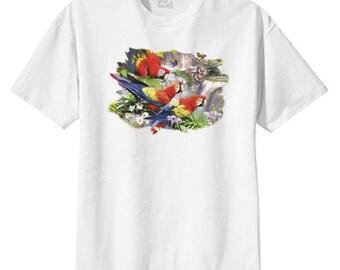 Tropical Amazon Parrots New T Shirt, S M L XL 2X 3X 4X 5X