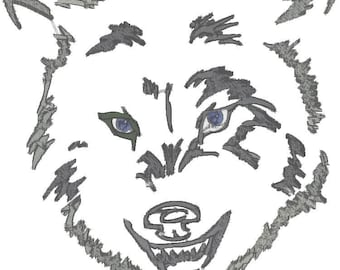 4x4 -6X6 And 8X8 Wolf Spirit Machine Embroidery Designs. Embroidery formats downloadable.