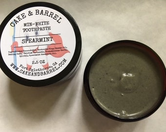 Min-White Spearmint Toothpaste. Natural Re-mineralizing Toothpaste.