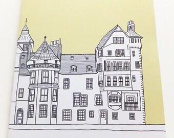 Edinburgh Notebook - Pastel Yellow Journal, Ramsay Lane, Old Town, Edinburgh, blank journal, Travel Journal