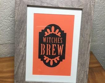 "Decorative Halloween Frame ""Witches Brew"""