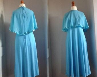 Odd But Cool Vintage 70's Cape Dress- Size medium-large