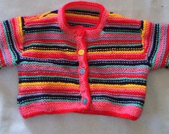 Technicolour cardigan 6-9 months