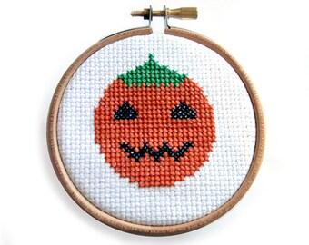 Halloween Pumpkin Instant Download Cross Stitch Chart